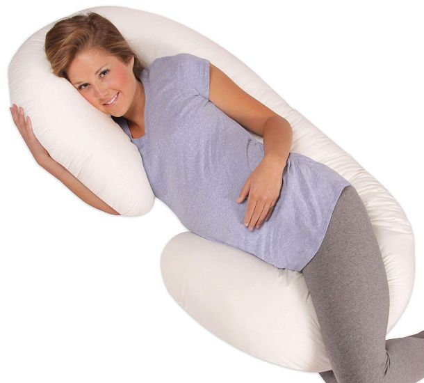 Leachco Snoogle Original Maternity or Pregnancy Total Body Pillow
